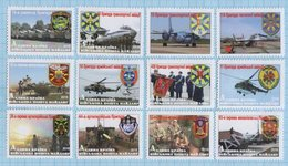 UKRAINE Stamps Maidan Post Military Army Antiterrorist Operation Patches Symbolism Air Force Aviation. Air Defense 2016 - Ukraine