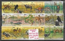 Animaux Divers Antilope Crocodile éléphant Flamand Rapace Serpent Singe - Burundi PA N°445 à 468 1977 ** - Non Classés