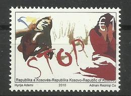 KOSOVO 2010  STOP VIOLENCE AGAINST WOMEN MNH - Kosovo