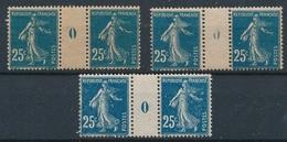CR-185: FRANCE: Lot  Avec Millésimes** Du N°140 (3) ( 1920) - Millésimes
