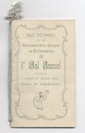 VILLE D'ETAMPES SPORTING -CLUB BAL ANNUEL 1923 SALLE L ALHAMERA  -RECTO/VERSO - Z12 - Programmes