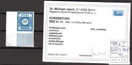 SBZ, Ostsachsen, Mi.-Nr. 49 A I, Postfrisch, KB. Dr. JaschBPP. - Sowjetische Zone (SBZ)