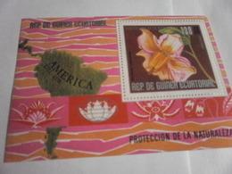 Miniature Sheet Perf South America Nature Protection - Equatorial Guinea