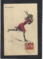 CPA Naillod Femme Girl Woman Circulé Illustrateur Mode Chapeau Patin à Roulettes Skating - Naillod