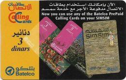 Bahrain - Batelco - Use Batelco Prepaids On SimSim, 3BD Prepaid Card, Used - Bahrain