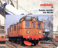 Catalogue MÄRKLIN 1986-87 Svenska Modeller Från Märklin-zusätzliche Blätter- En Suédois - Other