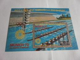Miniature Sheet Perf Munich 72 Rowing - Equatorial Guinea