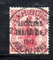 APR1075 - NEW NUOVA ZELANDA 1913 , 1 P. . Usato  Yvert  N. 145  Auckland Exhibition - 1907-1947 Dominion