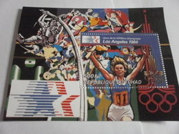 Miniature Sheet Perf Los Angeles 1984 Olympics - Chad (1960-...)