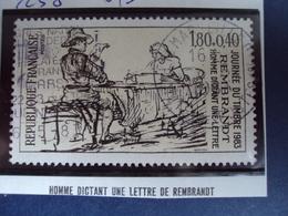"""1983  - Timbre Oblitéré N°   2258    """" Homme Dictant Une Lettre De Rembrandt     """"  0.50 - France"""