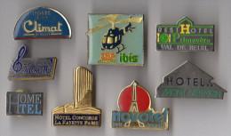 LOT 8 PIN'S HOTEL Ibis Climat Novotel Adagio Hotel Concorde - Pin's