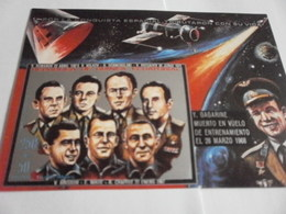 Miniature Sheet Imperf Russian Cosmonauts - Equatorial Guinea
