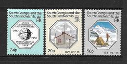 GEORGIE DU SUD 1987 ANNEE GEOPHYSIQUE  YVERT N°181/83  NEUF MNH** - Georgias Del Sur (Islas)