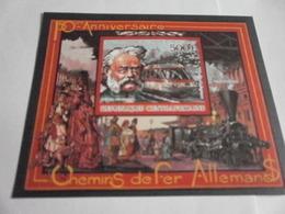 Miniature Sheet Imperf 150 Anniversary Werner Von Siemens - Central African Republic