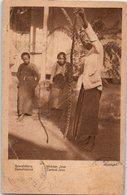 Indonésie - Java Sawahslang - Midden Java- Publicité Au Dos De René Bourgeois  (pliée Milieu Et Coin ) - Indonesia