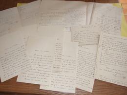 THELIGNY LES AULNAIES LOT 12 LETTRES ET 1 CARTE ADRESSE EN RELIEF INITIALLES DE MR GUERRIER LEONCE CHARLES ANNEE 1890 - France