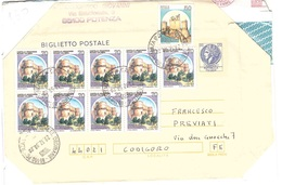 Affrancatura Mista Con Biglietto Postale - 1991-00: Marcophilia