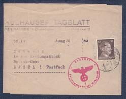 """Bande Du Journal """"Mulhauser Tagblatt -> Basel - Zensur/censored/Censure OKV E - Marcofilie (Brieven)"""