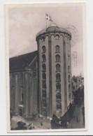 AI37 Kobenhavn, Copenhagen, The Round Tower - RPPC, Slogan Postmark - Denmark