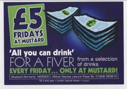 AI37 Advertising Card For Mustard (Heroes), MIlton Keynes Leisure Plaza - Advertising