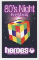 AI37 Advertising Card, Heroes 80's Night, MIlton Keynes Leisure Plaza - Advertising