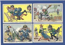 CPA Muller Kaiser Allemagne Germany Caricature Satirique Patriotique Non Circulé Ensemble Lot De 10 Cartes Voir Scans - Humour