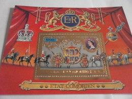 Miniature Sheet Perf Queen Elizabeth 25th Anniversary - Comoros