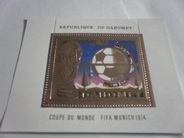 Miniature Sheet Perf Football World Cup Munich 1974 - Benin - Dahomey (1960-...)