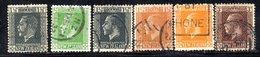 APR1082 - NEW NUOVA ZELANDA 1915 , Serie  Yvert  N. 162/167  Usato (2380A) - 1907-1947 Dominion