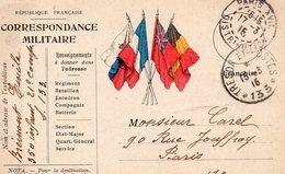 CP-  Correspondance Militaire-  4 Drapeaux-- T Et P -N°*133* - Marcofilia (sobres)