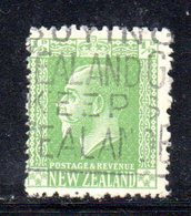 APR1083 - NEW NUOVA ZELANDA 1925 ,   Yvert  N. 177  Usato (2380A) Impressione Al Verso - Usati
