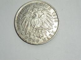 Monnaie De Germanie - 5 Mark Lettre J Hamburg 1903 En Argent En TTB+ - 2, 3 & 5 Mark Argent