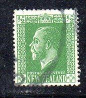 APR1084 - NEW NUOVA ZELANDA 1925 ,   Yvert  N. 177  Usato (2380A) Impressione Al Verso - Usati