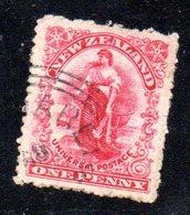 APR1085 - NEW NUOVA ZELANDA 1925 ,   Yvert  N. 178  Usato (2380A) Impressione Al Verso - Usati