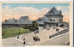 AR27 Union Station, Springfield, Mass - Vintage Cars - Springfield