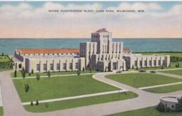 AR27 Water Purification Plant, Lake Park, Milwaukee, Wis. - Linen Postcard - Milwaukee