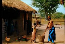 Afrique En Couleurs : Préparation Du Repas - Cartes Postales