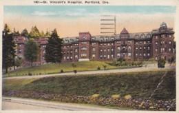 AR27 Vincent's Hospital, Portland, Ore - 1930's Postcard - Portland