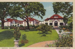 AR27 Hotel Thomas, Gainesville, Florida - Linen Postcard - United States