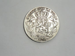 Monnaie De Belgique - 5 Francs 1870 Argent En TTB - 09. 5 Francs