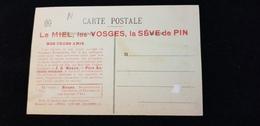 Cp 88 Vosges ETIVAL Féculerie Incendiée Guerre 1914.18 Publicité LE MIEL LA SEVE DE PIN J A REAUX PERE ANTONIO REUNIES - Etival Clairefontaine