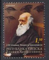 1.- BOSNIA I HERZEGOVINA MOSTAR 2008 150 Years Of The Theory Of Evolution - Charles Darwin - Bosnia Herzegovina