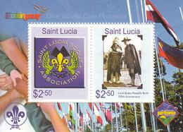 2007 St. Lucia Scouts Souvenir Sheet MNH - St.Lucia (1979-...)