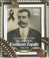 J) 2019 MEXICO, LUCTUOUS CENTENARY FROM GENERAL EMILIANO ZAPATA, MNH - Mexico