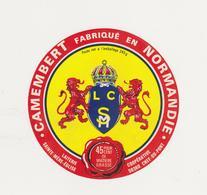ETIQUETTE DE  CAMEMBERT LAITERIE COOP STE MERE EGLISE / CHEF DU PONT - Fromage