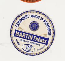 ETIQUETTE DE CAMEMBERT MARTIN FRERES VIRE 14 Q - Fromage