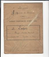 """MARINE Nationale France  Livret Officier  Roger Lafon 1876 - 1944  Cdt Le Sous - Marin """" Volta """" , + Divers - Documents"""