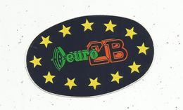 Autocollant , EURO CB ,  90 X 60 Mm - Autocollants