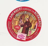 ETIQUETTE DE CAMEMBERT FERMIERS NORMANDS AUNAY SUR ODON - Fromage