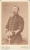 PHOTO CDV 19 EME MILITAIRE OFFICIER GERY CASAL ? Dédicace Au Dos   CABINET PERLA  à CHAMBERY - Guerra, Militares